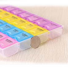 Separable 28 grids week day medicine box from morning noon evening bed grids English