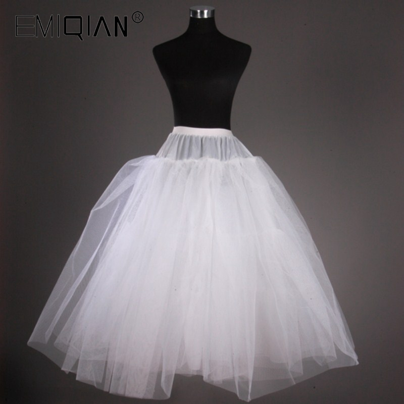 High Quality 3 Layers Tulle Wedding Crinoline Petticoat Without Bone Under Skirt
