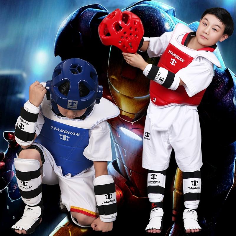 Taekwondo Gear teljes készlet mellkasi védő sisak kar & Shin - Sportruházat és sportolási kiegészítők
