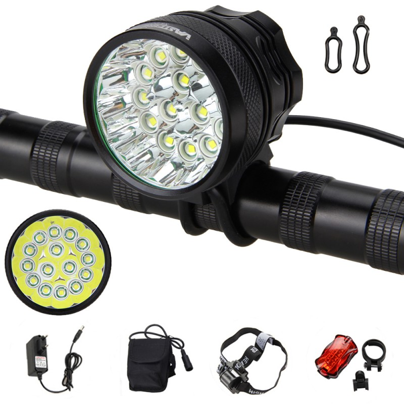Mountain Bike Light 20000Lm 15x XML T6 LED Front Bicycle Lamp High/Low/Strobe Torch+Rechargeable Battery+Charger+Rear Light sitemap 29 xml