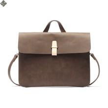 Multifunctional Crazy Horse Men Bag Leather Vintage Handbags Messenger Shoulder Bags Crossbody Bag For Men