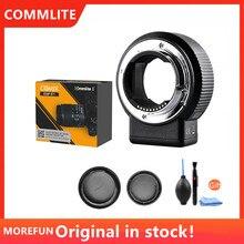 Adaptateur de monture dobjectif Commlite CM ENF E1 Pro Auto Focus pour objectif Nikon F vers Sony E Mount A9 A7II A7R3 A7M3 A7SII A6300 A6500 A6100