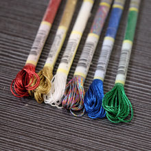 6 Skeins Pack Light Effects Floss 6 Strands High Sheen Colors Metallic Embroidery Floss Cross Stitch Thread 8M each Skein(China)