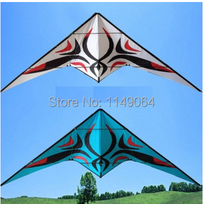 free shipping high quality 2.7m Green flower porcelain dual line stunt kite with handle line easy kite blue and white porcelain 2 5m huge dual line control soft frameless stunt parafoil flying kite plaid cloth made with 2 line board and 2 x 40m line