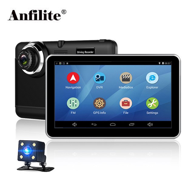 Anfilite Car-Dvr Truck DDR Gps-Navigator Dash-Cam Android Record Capacitive 1080P 7inch