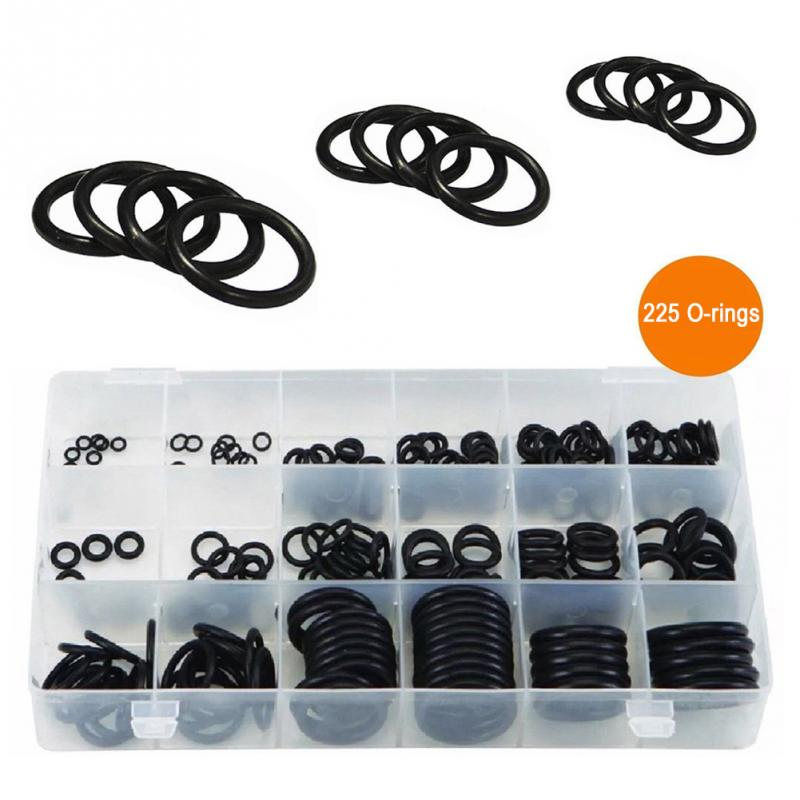 225pcs/set Multifunctional Rubber O-Ring Seals Tap Combination Practical O-rings Home Furniture Tool Accessories