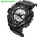 New SANDA Esportes Homens Relógios de Luxo Da Marca Digital LED relógios de Pulso de Quartzo Pulseira De Borracha Relógio Militar relogio masculino
