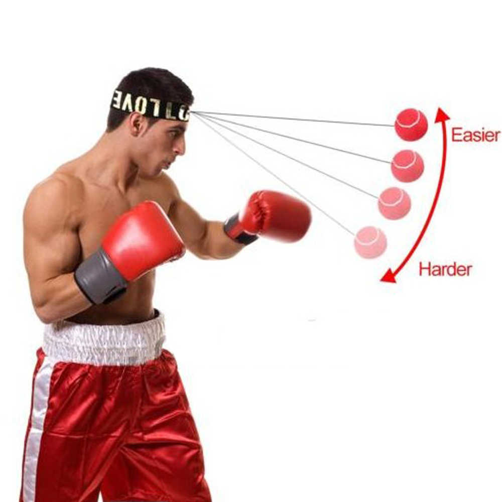 Boxing Boxer Punch Exercise Fight Ball With Head Band For Reflex Speed Training