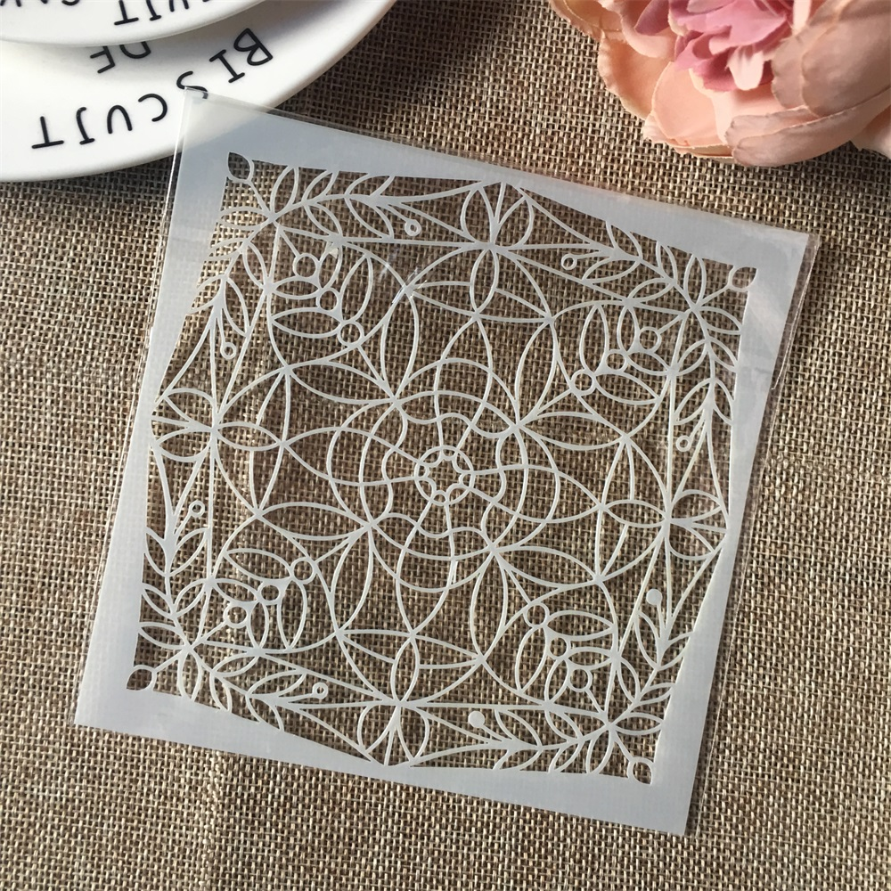Hot 13cm Geometry Circle DIY Craft Layering Stencils Wall Painting Scrapbooking Stamping Embossing Album Card Template
