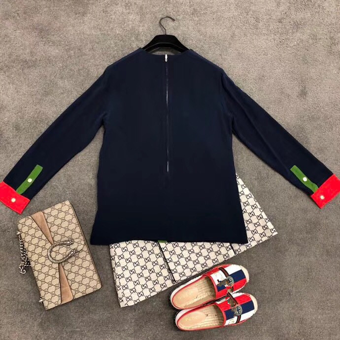 2018 new High Quality fashion Blouses & Shirts Runway Summer Womens Brand Luxury Women's Clothing A07292