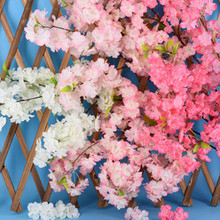 Artificial Flower Simulation Cherry Blossom Branch 4 Tree Wedding Decoration Dried Flowers Home Decor