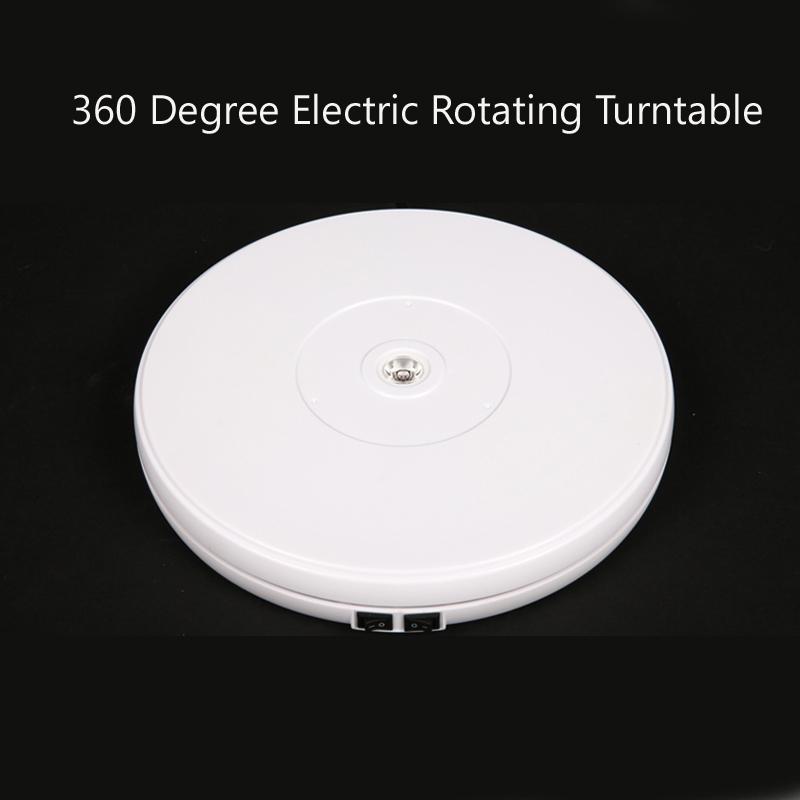 """Prix pour Falconeyes 10 """"25 cm led lumière 360 degrés électrique tournante turntable pour photographie, max charge 10 kg, 220 v"""
