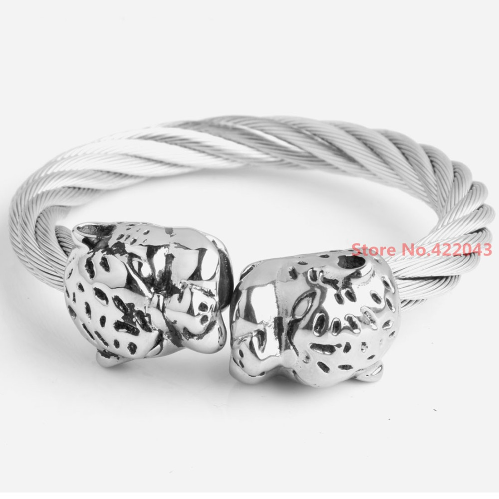 Amazing Heavy Silver Tone 316L Stainless steel Twisted Wire Cable ...