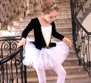 Image 5 - Vestidos de Ballet de manga larga para chicas, tutú de Ballet de danza, Ropa de baile de bailarina, disfraz de Lago Cisne Negro/rosa para niñas y niños