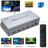 1080P 3D 4x1 HDMI Multi viewer 4 video signal to 1 Screen Seamless Switcher Quad Screen Splitter Real Time Multi viewer HDCP