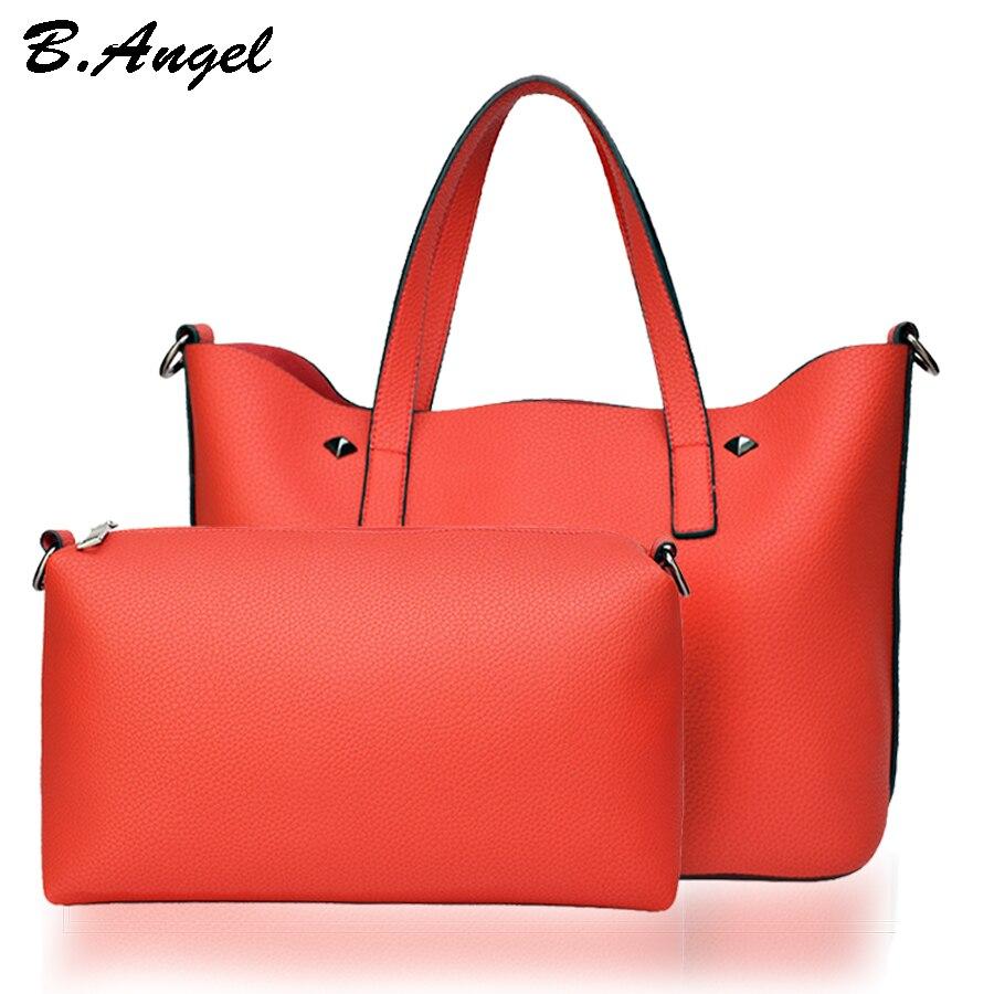 2 sacs 1 ensemble femmes sac femmes sacs de messager sac à main de luxe sacs à main femmes sacs concepteur femmes en cuir sacs à main sac à main fourre-tout