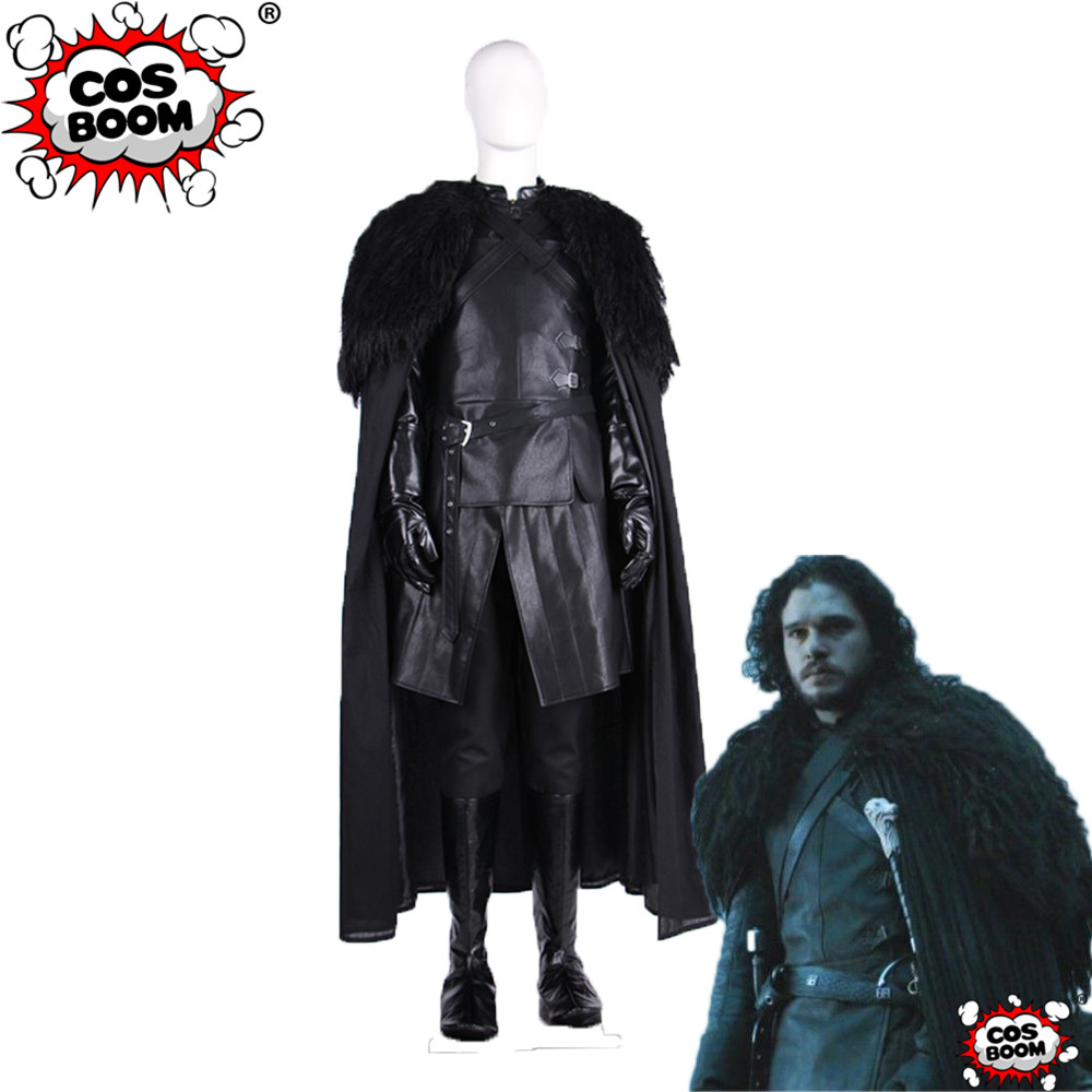 COSBOOM Game Of Thrones Costume Season 7 Jon Snow Cosplay Costume Adult Men's Halloween Carnival Jon Snow Costume