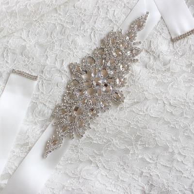 4cm*270cm Colorful Handmade crystal rhinestone Beaded embellishment waist belt Wedding Bridal Sash women costume Belt  B004