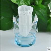 Free Shipping DIY Essential Ear Coffee Filter Portable Drip Coffee Powder Bag Filter Net Follicles 50