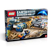 GUDI Science Fiction Tank Border Series Building Of Earth Defenders Bunker Tanks Motorcycle Educations Toys