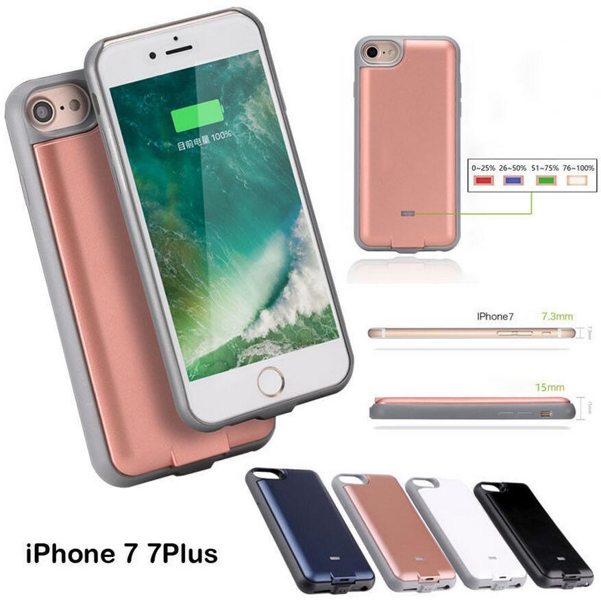 Светодиод Внешний Мощность Банк pack Вернуться батарея Зарядное устройство мягкие границы чехол для iPhone 6 6S 7 7 Plus с USB Дата линия