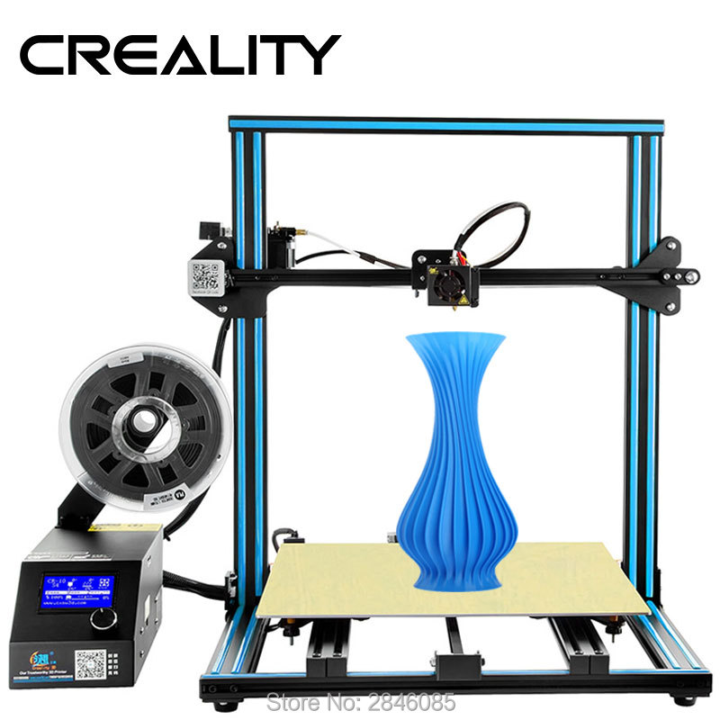creality 3d official upgrade version cr 10 4s dual z rod resume print after power off  filament