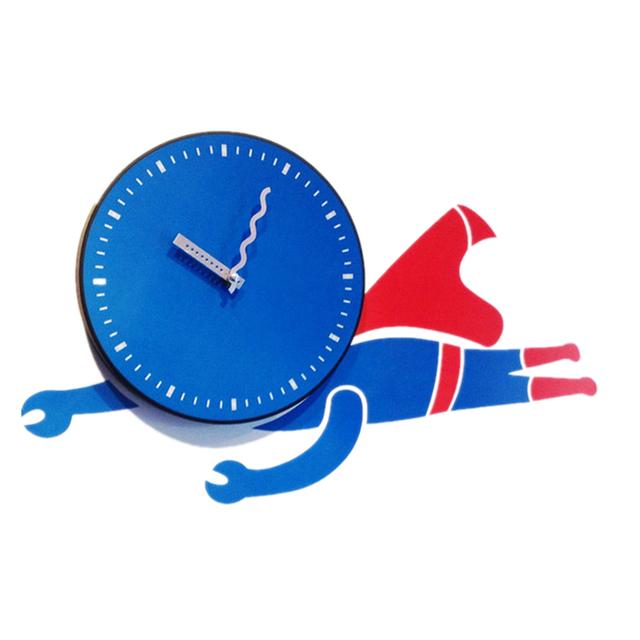 New Fashion Wall Clock Living Room Creative Cartoon Superman DIY Sitting Room Wall Decoration Sticker
