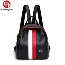 Women Fashion Genuine Leather Mini Backpack Shoulders Woman Sheepskin Mochila Bagpack School Bags For Teenage Girls Back Pack