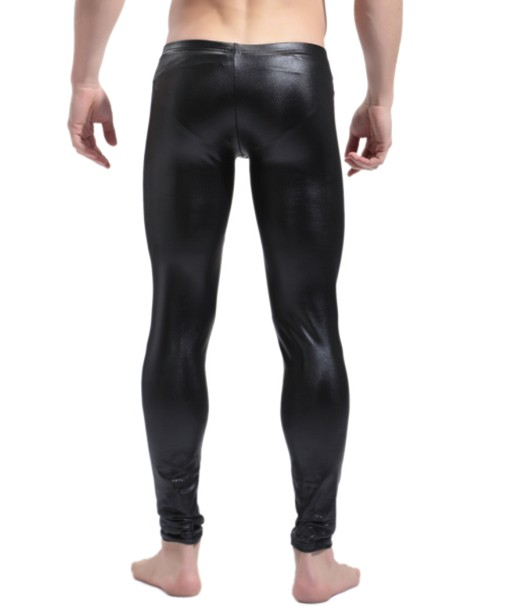 Hot! Faux Leather Mens Tight Pants Fashion Mens Clubwear Stage Performer Trousers Sexy Men Body Shaper Wear Top Quality CK1