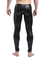 Hot! Faux Leather Men's Tight Pants Fashion Mens Clubwear Stage Performer Trousers Sexy Men Body Shaper Wear Top Quality CK1