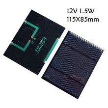 3.5 v 0.8 w/12 v 1.5 w Monocristalino Módulo Do Painel Solar Para O Carregador de Bateria de Telefone Celular DIY Modelo