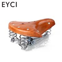 Retro Leather Classic Cycle Bicycle Bike Cycling Saddle Seat Cushion with Spring