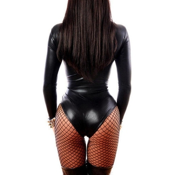PU Leather Catwomen Bodysuits  1