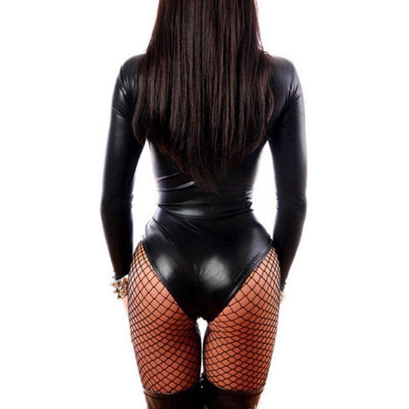 Sexy PU Leather Lingerie Bodysuit 2