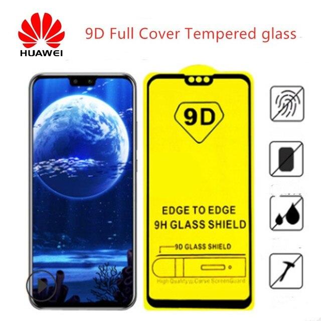 9D completa de la cubierta de vidrio templado para huawei Mate 20 Pro P20 de cristal Lite P smart film Protector de pantalla para huawei mate 10 Lite de vidrio