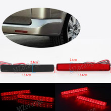 2pcs for VW T5 Transporter / Caravelle / Multivan 2003-11 Red black Rear Bumper Reflector LED Tail Stop Brake Light (CA243) Car(China)