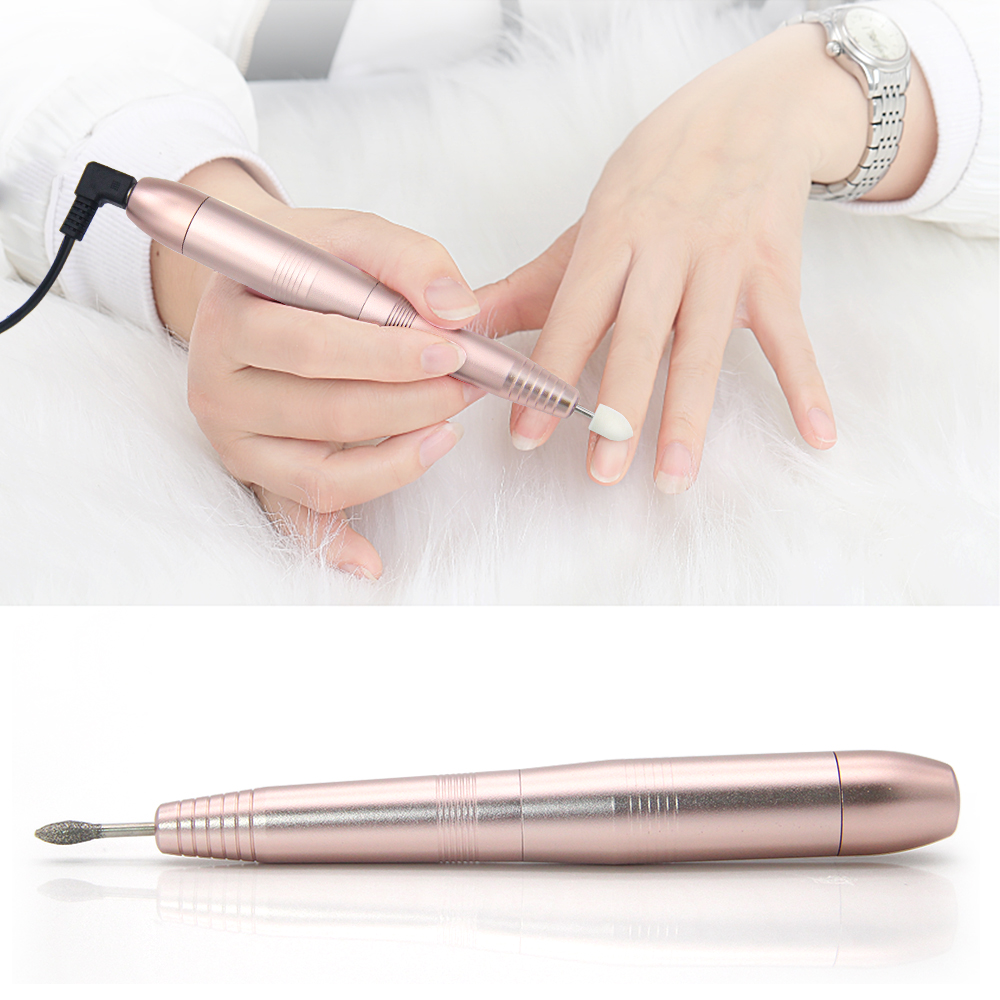 LKE Complete set Electric Manicure Portable USB interface electric nail polisher 20000 speed high-efficiency Nail Polisher Tool