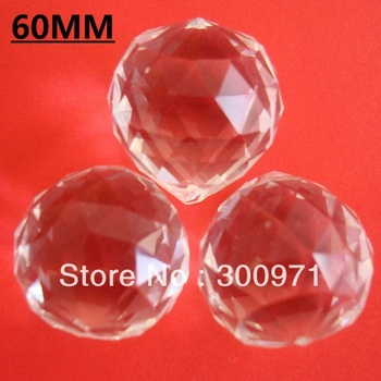 Free Shipping  + 18pcs/Lot  Good Quality Shinning Of 60mm Transparnets Crystal Chandelier Ball / Crystal Lighting Ball