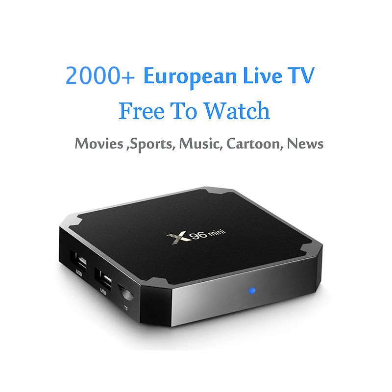 X96 Mini Android TV Box 4K Europe IPTV Support 2000+ Live