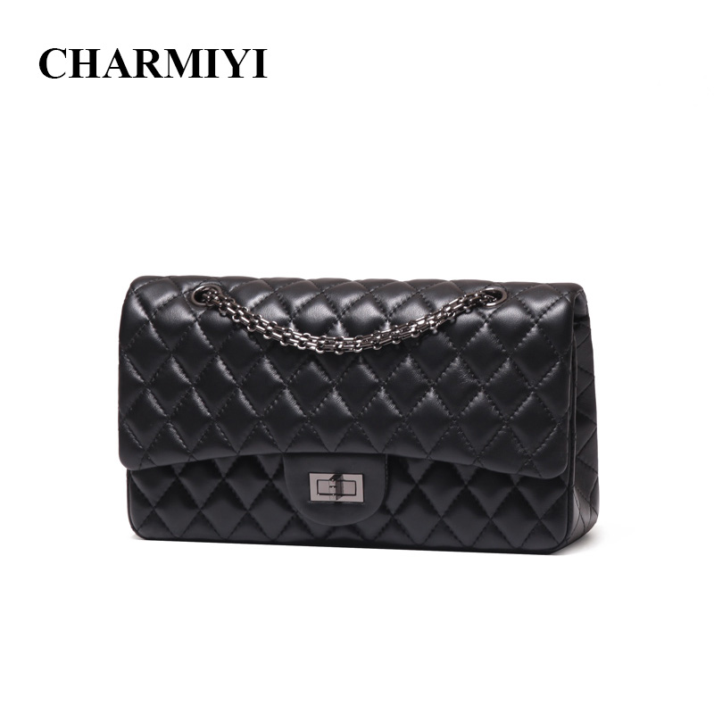 CHARMIYI Luxury High Quality Genuine Leather Women Shoulder bag Famous Brand Chain Women Messenger bags Soft Lady Crossbody bag miwind f graffiti istitching chain messenger chain bag women s premium lady oblique crossbody shoulder bags famous brands c c