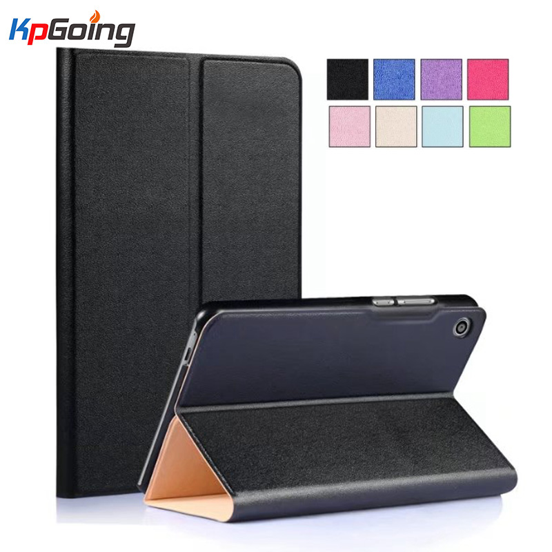 KpGoing PU Leather Case for Huawei MediaPad T3 8.0 KOB-L09/KOB-W09 8inch Tablet Cover For Huawei Honor Play Pad 2 8.0 Fundas for huawei mediapad t3 8 0 kob l09 kob w09 case ultra thin design case tpu silicone transparent matte cover honor juego pad 2 8