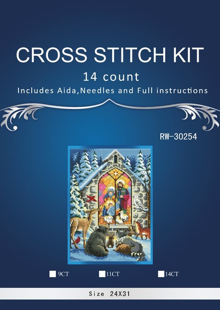 Top Quality Beautiful Lovely Counted Cross Stitch Kit Holy Nativity The Birth of Christ Jesus Religion God dim 0878