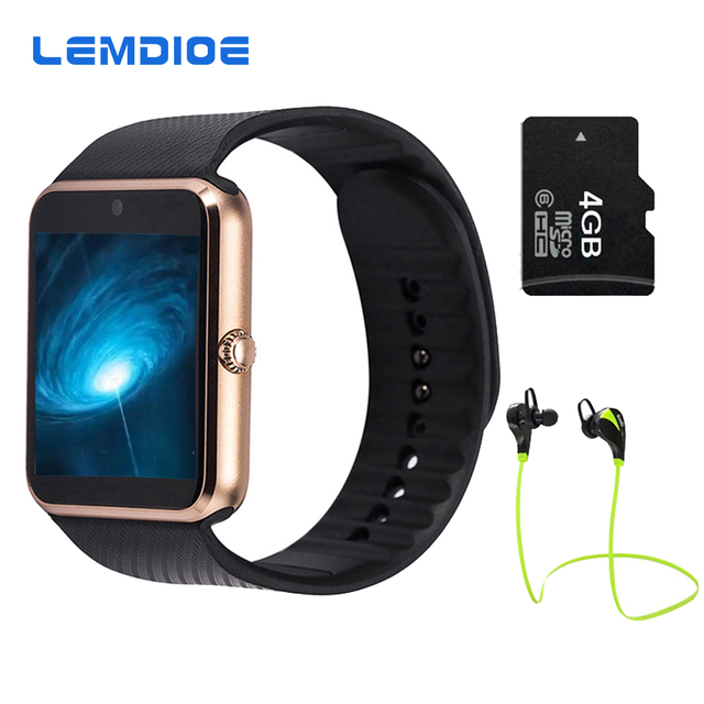 2017 Лучший Продаем GT08 Bluetooth Smart Watch Phone Support TF Sim карты MP3 Нажмите Сообщение Smartwatch Для apple Android OS ПК GD19