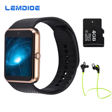 2017 Best Sell GT08Bluetooth Smart Watch Phone Support TF Sim Card MP3 Push Message Smartwatch For apple Android OS PK GD19