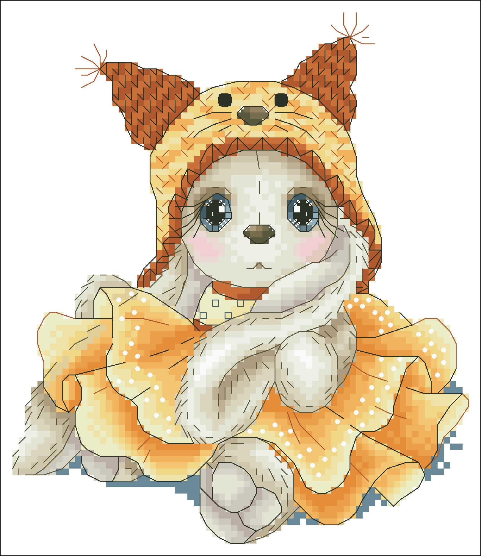 かわいい女の子ユニコーン帽子クロスステッチパッケージ漫画の動物 18ct 14ct 11ct 布綿シルク刺繍 DIY ハンドメイド刺繍
