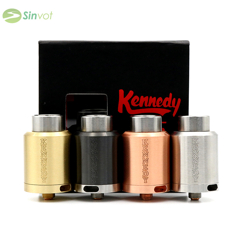 Electronic Cigarette Kennedy 25 RDA Atomizer clone Rebuildable vaporizer wide drip tip rda Kennedy V3 suit