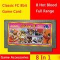 60 pin 8bit карточная игра 8 в 1 горячая кровь полный спектр для тв игровых консолей бесплатная доставка