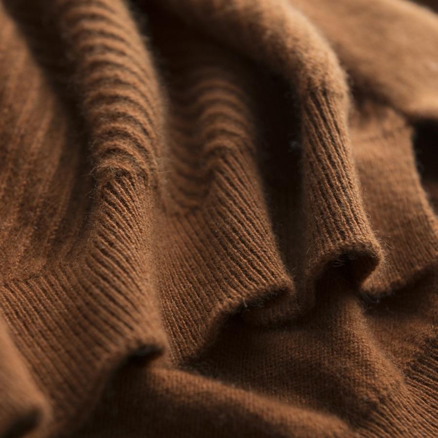 Pull Cachemire Chaude Modèle Hiver Chandails Light Mode Doux collier En Chandail gray Femmes Demi De Qualité Haute Automne caramel white Beige Solide black beige Court 7tqwX7