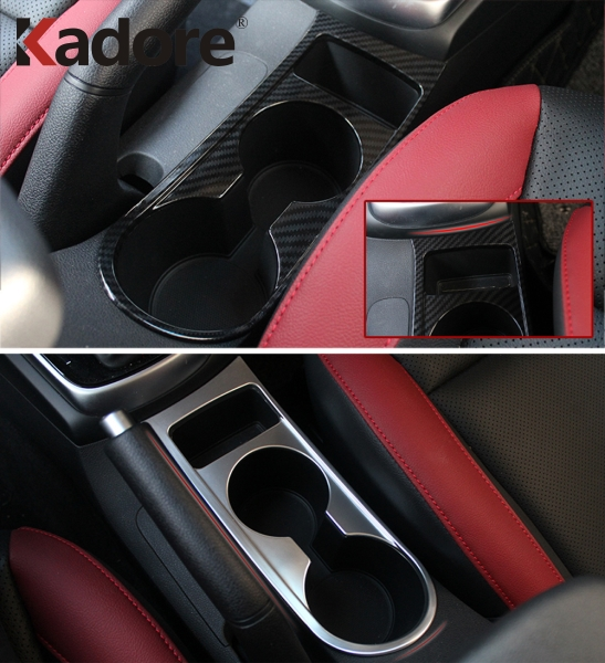 For Kia Rio 4 X-line 2017 2018 2019 Stainless Steel Car Water Cup Holder <font><b>Frame</b></font> Decal Cover Trim Cover Interior Accessories image