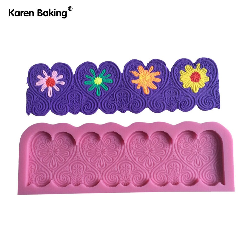 Chocolate Candy Jello 3D Beautiful Flower Silicone Fondant ...